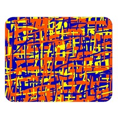 Orange, Blue And Yellow Pattern Double Sided Flano Blanket (large)  by Valentinaart