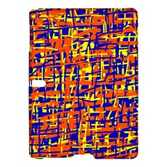 Orange, Blue And Yellow Pattern Samsung Galaxy Tab S (10 5 ) Hardshell Case  by Valentinaart