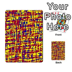 Red, Yellow And Blue Pattern Multi Purpose Cards (rectangle)  by Valentinaart