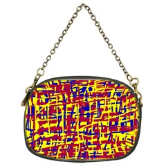 Red, Yellow And Blue Pattern Chain Purses (two Sides)  by Valentinaart