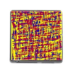 Red, Yellow And Blue Pattern Memory Card Reader (square) by Valentinaart