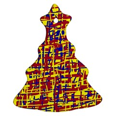 Red, Yellow And Blue Pattern Ornament (christmas Tree)