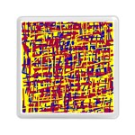 Red, yellow and blue pattern Memory Card Reader (Square)  Front