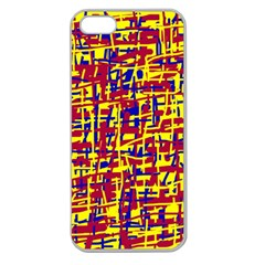 Red, Yellow And Blue Pattern Apple Seamless Iphone 5 Case (clear) by Valentinaart