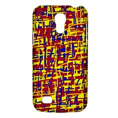Red, Yellow And Blue Pattern Galaxy S4 Mini by Valentinaart