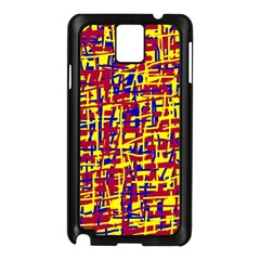 Red, Yellow And Blue Pattern Samsung Galaxy Note 3 N9005 Case (black) by Valentinaart