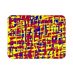 Red, Yellow And Blue Pattern Double Sided Flano Blanket (mini)  by Valentinaart