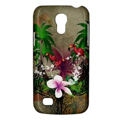 Wonderful Tropical Design With Palm And Flamingo Galaxy S4 Mini by FantasyWorld7