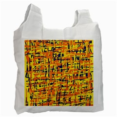 Yellow, Orange And Blue Pattern Recycle Bag (one Side) by Valentinaart
