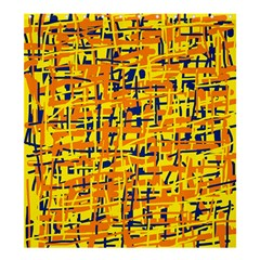 Yellow, Orange And Blue Pattern Shower Curtain 66  X 72  (large)  by Valentinaart