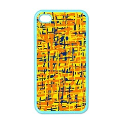Yellow, Orange And Blue Pattern Apple Iphone 4 Case (color) by Valentinaart