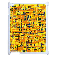 Yellow, Orange And Blue Pattern Apple Ipad 2 Case (white) by Valentinaart