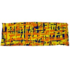 Yellow, Orange And Blue Pattern Body Pillow Case (dakimakura) by Valentinaart