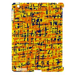 Yellow, Orange And Blue Pattern Apple Ipad 3/4 Hardshell Case (compatible With Smart Cover) by Valentinaart
