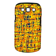 Yellow, Orange And Blue Pattern Samsung Galaxy S Iii Classic Hardshell Case (pc+silicone) by Valentinaart