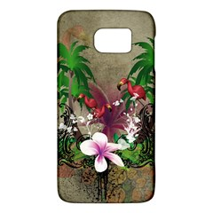 Wonderful Tropical Design With Palm And Flamingo Galaxy S6 by FantasyWorld7