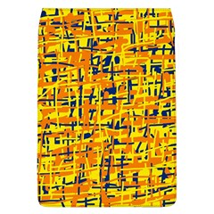 Yellow, Orange And Blue Pattern Flap Covers (l)  by Valentinaart