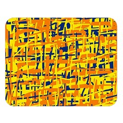 Yellow, Orange And Blue Pattern Double Sided Flano Blanket (large)  by Valentinaart