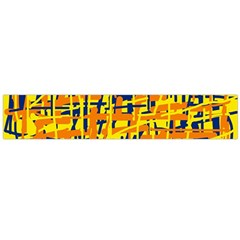 Yellow, Orange And Blue Pattern Flano Scarf (large) by Valentinaart