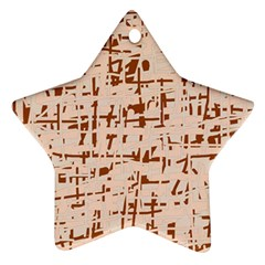 Brown Elegant Pattern Ornament (star)  by Valentinaart