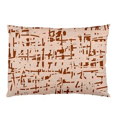 Brown Elegant Pattern Pillow Case by Valentinaart