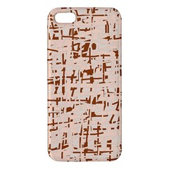 Brown Elegant Pattern Iphone 5s/ Se Premium Hardshell Case by Valentinaart