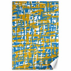 Blue And Yellow Elegant Pattern Canvas 20  X 30   by Valentinaart