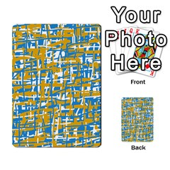 Blue And Yellow Elegant Pattern Multi Purpose Cards (rectangle)  by Valentinaart