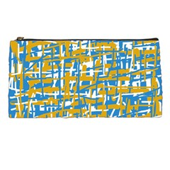 Blue And Yellow Elegant Pattern Pencil Cases by Valentinaart