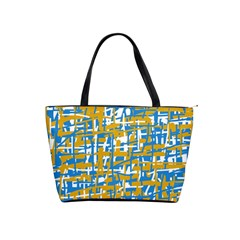 Blue And Yellow Elegant Pattern Shoulder Handbags by Valentinaart