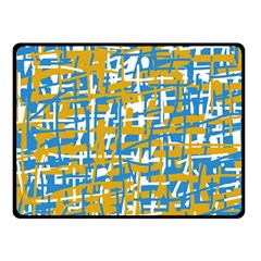 Blue And Yellow Elegant Pattern Fleece Blanket (small) by Valentinaart