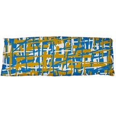 Blue And Yellow Elegant Pattern Body Pillow Case Dakimakura (two Sides) by Valentinaart