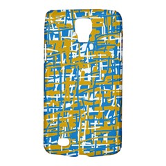 Blue And Yellow Elegant Pattern Galaxy S4 Active by Valentinaart