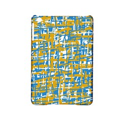 Blue And Yellow Elegant Pattern Ipad Mini 2 Hardshell Cases by Valentinaart