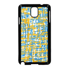 Blue And Yellow Elegant Pattern Samsung Galaxy Note 3 Neo Hardshell Case (black) by Valentinaart
