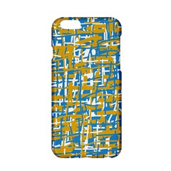 Blue And Yellow Elegant Pattern Apple Iphone 6/6s Hardshell Case by Valentinaart