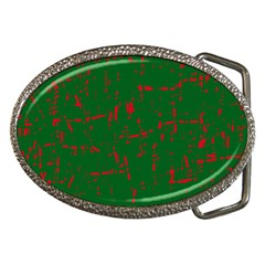 Green And Red Pattern Belt Buckles