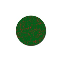 Green And Red Pattern Golf Ball Marker by Valentinaart