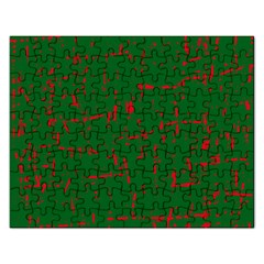 Green And Red Pattern Rectangular Jigsaw Puzzl by Valentinaart