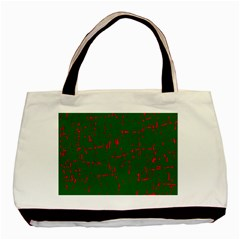 Green And Red Pattern Basic Tote Bag by Valentinaart