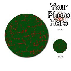 Green And Red Pattern Multi Purpose Cards (round)  by Valentinaart