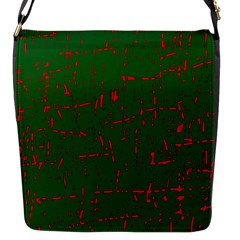 Green And Red Pattern Flap Messenger Bag (s)