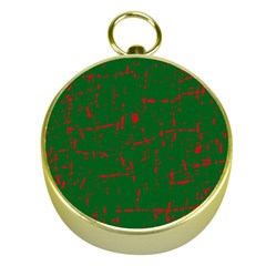 Green And Red Pattern Gold Compasses