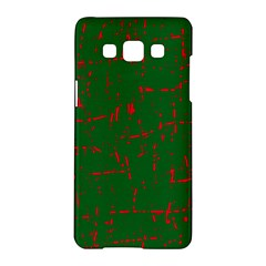 Green And Red Pattern Samsung Galaxy A5 Hardshell Case  by Valentinaart