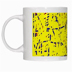 Yellow Summer Pattern White Mugs