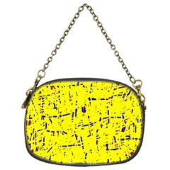 Yellow Summer Pattern Chain Purses (one Side)  by Valentinaart