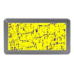 Yellow Summer Pattern Memory Card Reader (mini) by Valentinaart