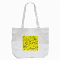 Yellow Summer Pattern Tote Bag (white) by Valentinaart