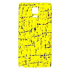 Yellow Summer Pattern Galaxy Note 4 Back Case by Valentinaart