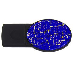 Blue Pattern Usb Flash Drive Oval (4 Gb)  by Valentinaart